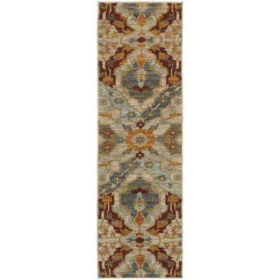Felice Multi 2 ft. x 8 ft. Runner Rug