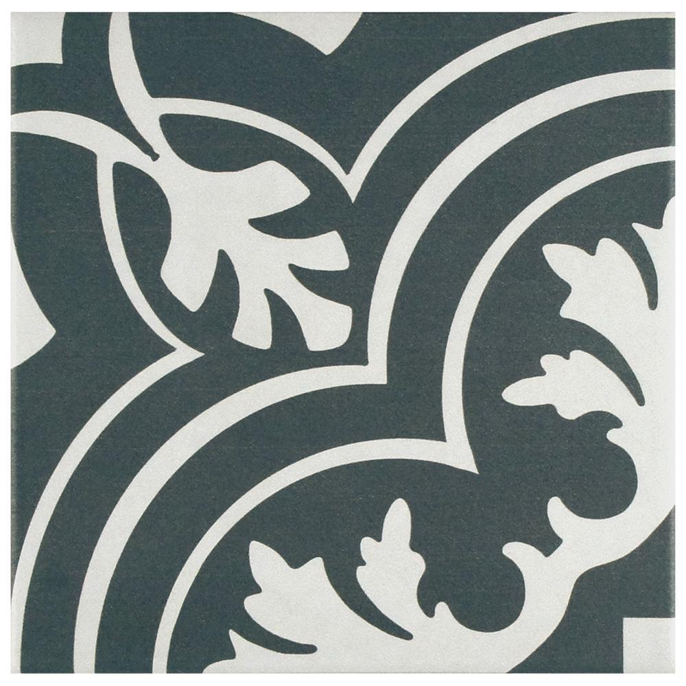 Merola Tile Twenties Classic Encaustic Ceramic Floor and Wall Tile - 7-3/4 in. x 7-3/4 in. Tile Sample
