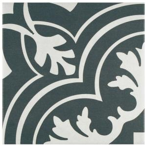Twenties Classic Encaustic Ceramic Floor and Wall Tile - 7-3/4 in. x 7-3/4 in. Tile Sample