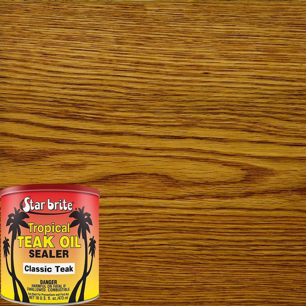 16 oz. Classic Teak Tropical Oil/Sealer