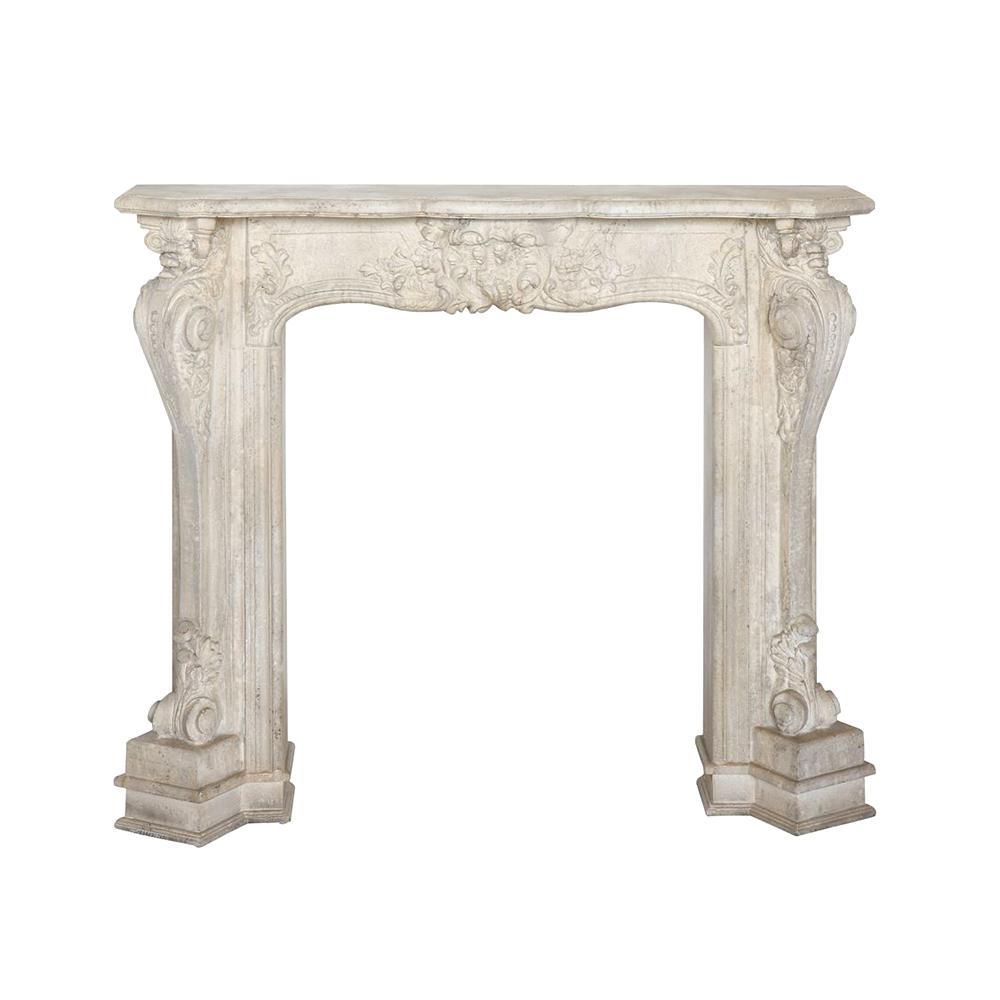 56.75 in. x 48.25 in. x 11.25 in. Wood Fireplace Mantel