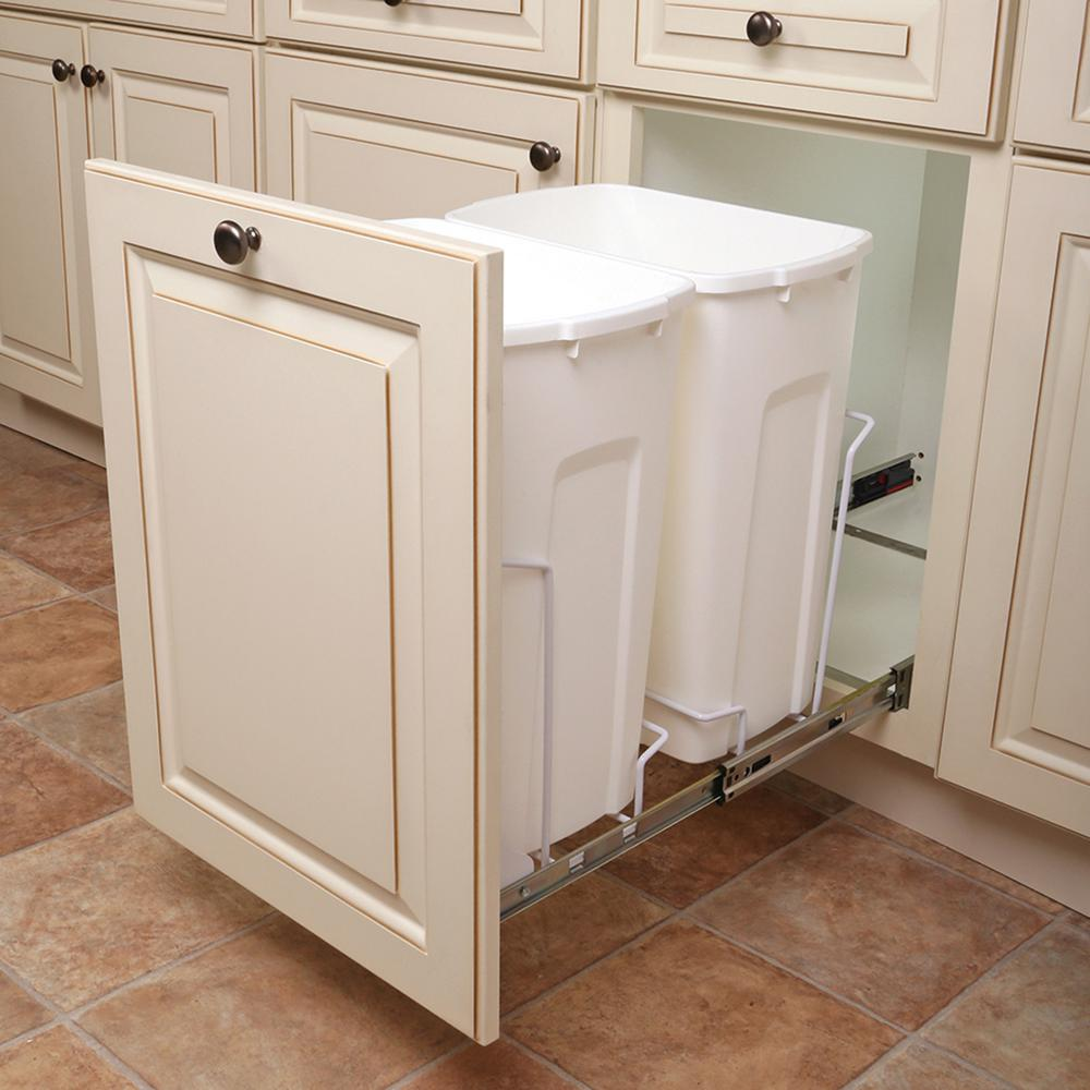 Kitchen Garbage Can Cabinet: Knape & Vogt 14.375 In. X 22 In. X 18.813 In. 35 Qt. In