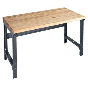 Edsal 34 inch H x 72 inch W x 36 inch D Maple Butcher Block Top Work Bench by Edsal