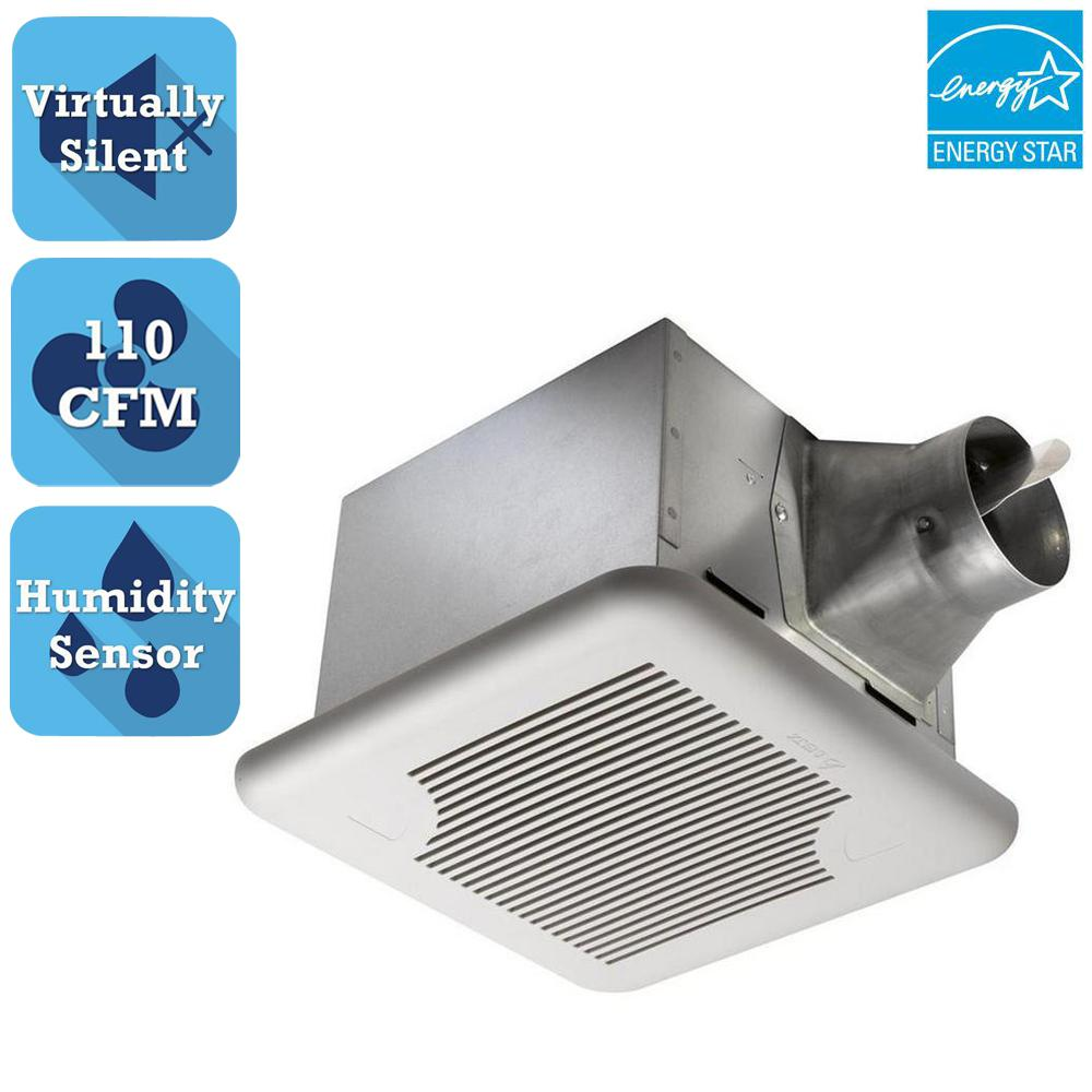 Delta Breez Signature Series 110 CFM Ceiling Bathroom Exhaust Fan with Adjustable Humidity Sensor and Speed Control