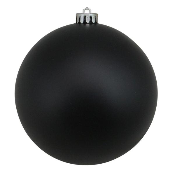 Northlight 12 In 300 Mm Jet Black Commercial Shatterproof Matte Christmas Ball Ornament 32911589 The Home Depot