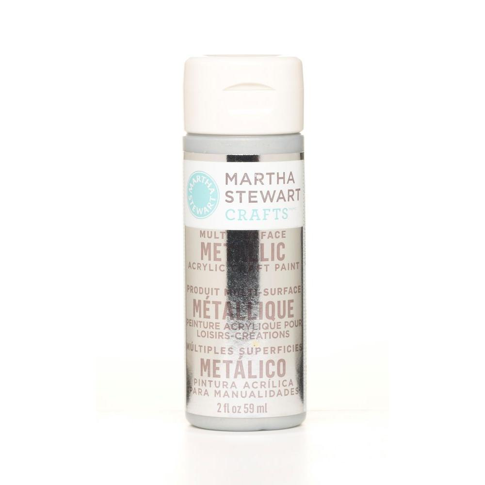 Martha Stewart Crafts 2-oz. Sterling Multi-Surface Metallic Acrylic Craft Paint