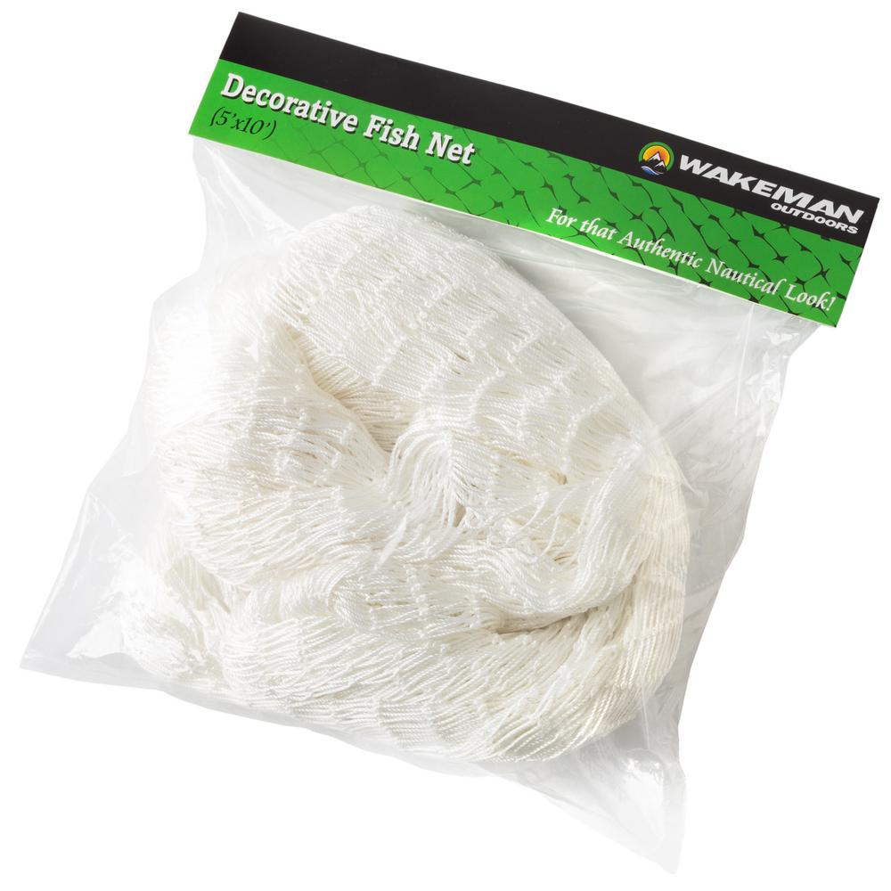 Wakeman Outdoors Fishing Net Decoration In White