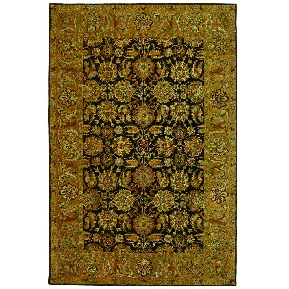 Anatolia Dark Brown/Gold 9 ft. x 12 ft. Area Rug