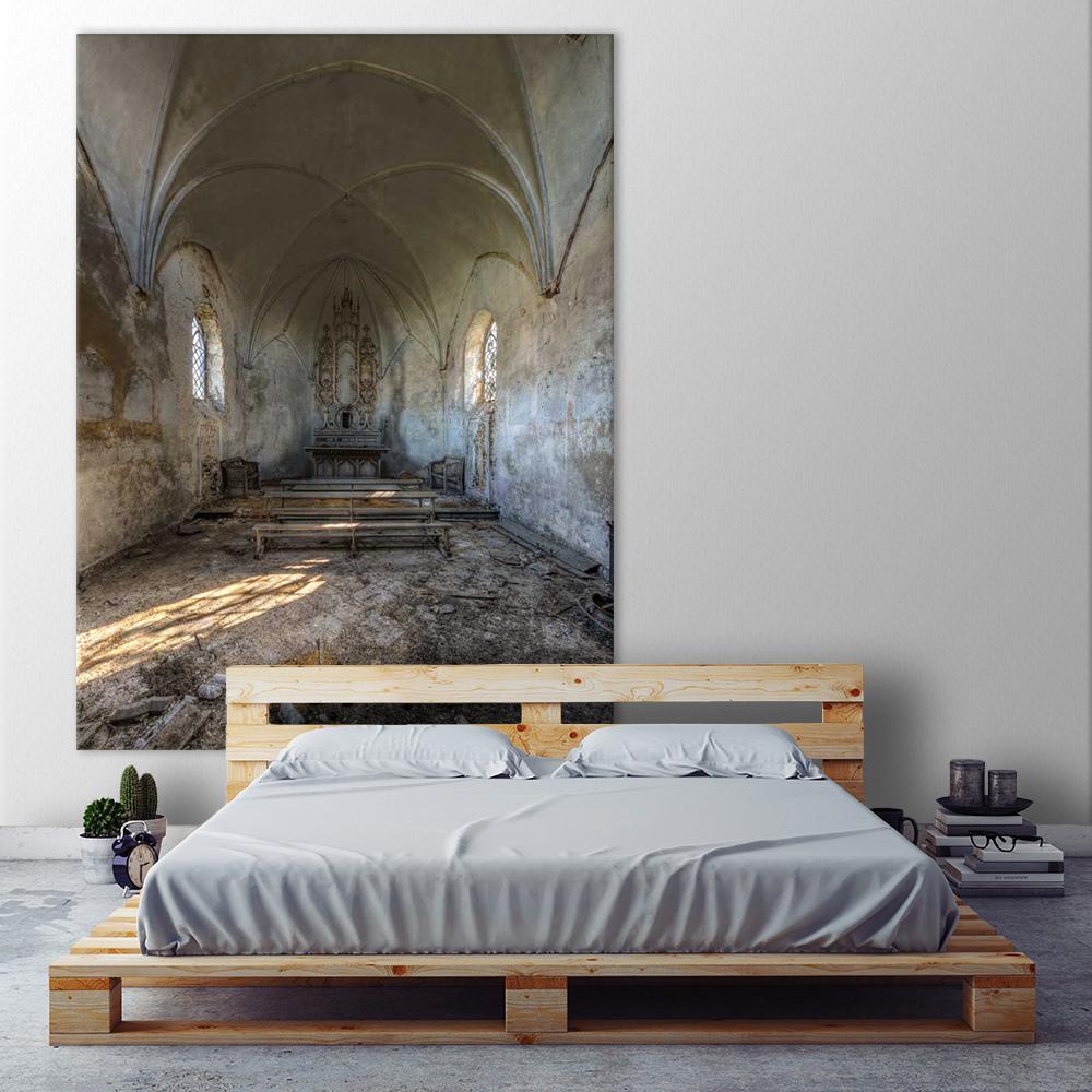 """72 in. x 54 in. """"Chapel de la Meuse II"""" by Ivo Sneeuw Printed Framed Canvas Wall Art"""