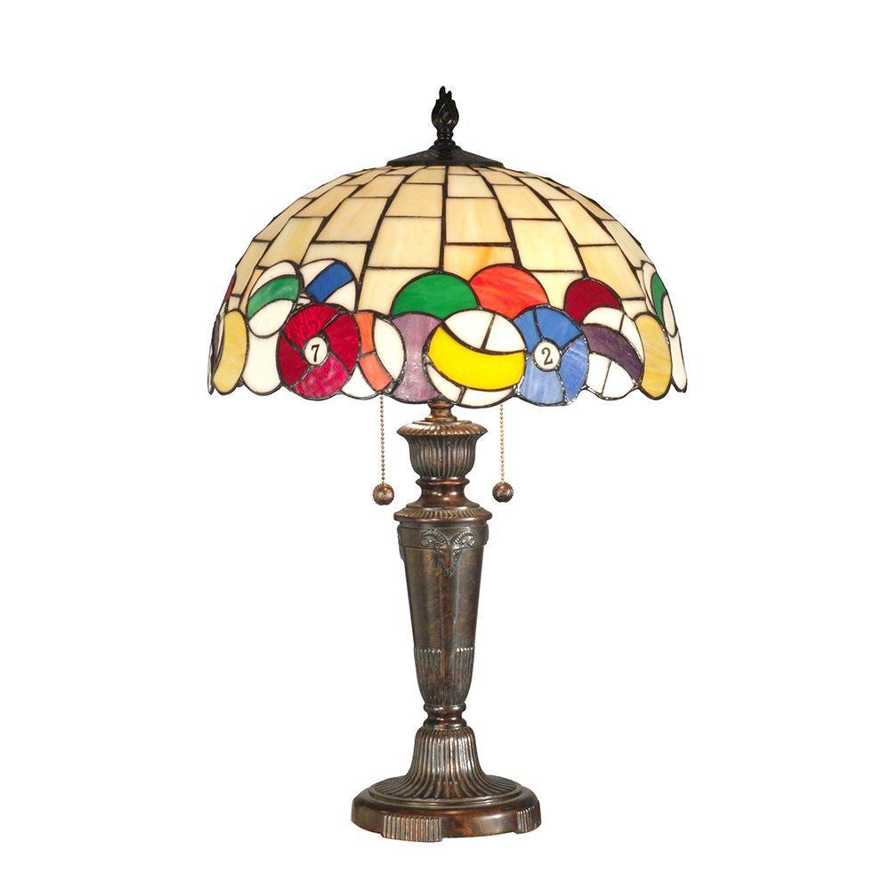 Dale Tiffany 25 in. Billiards Fieldstone Table Lamp