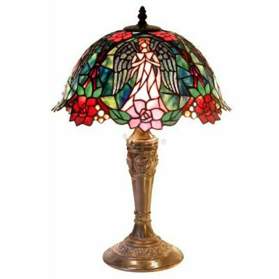 21 in. Angel Brown/Multicolored Table Lamp