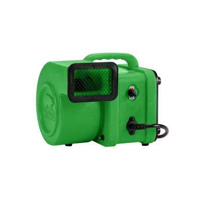 1/4 HP Mini Air Mover for Water Damage Restoration Carpet Dryer Floor Blower Fan in Green