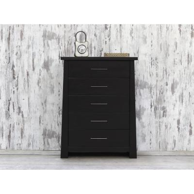 Fusion 5-Drawer Ebony Chest of Drawers