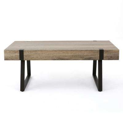 Canyon Gray Faux Wood Rectangular Coffee Table
