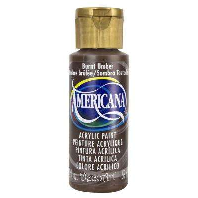 Americana 2 oz. Burnt Umber Acrylic Paint