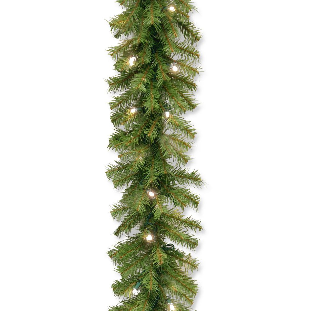 Norwood Fir 9 Ft. Garland With Battery Operated Warm White