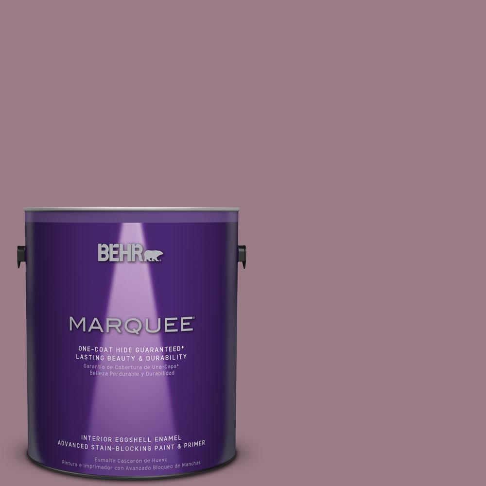 1 gal. #T15-19 Mulberry Wine Eggshell Enamel Interior Paint