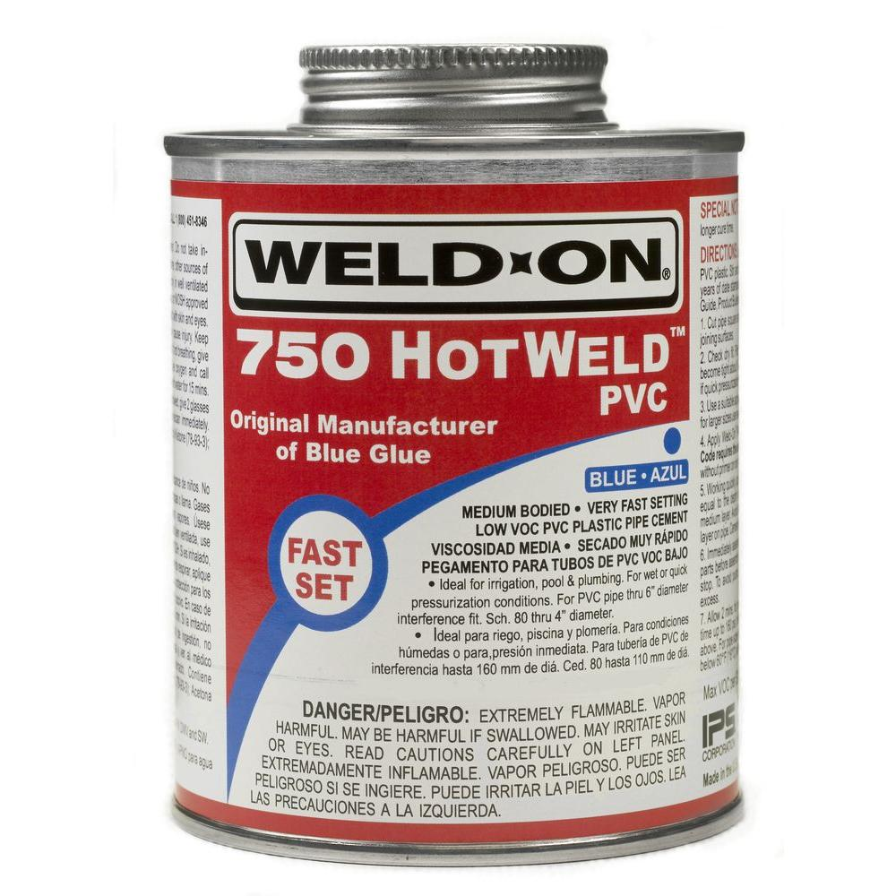 Blue Pvc Cement : Weld on oz pvc hot cement in blue the