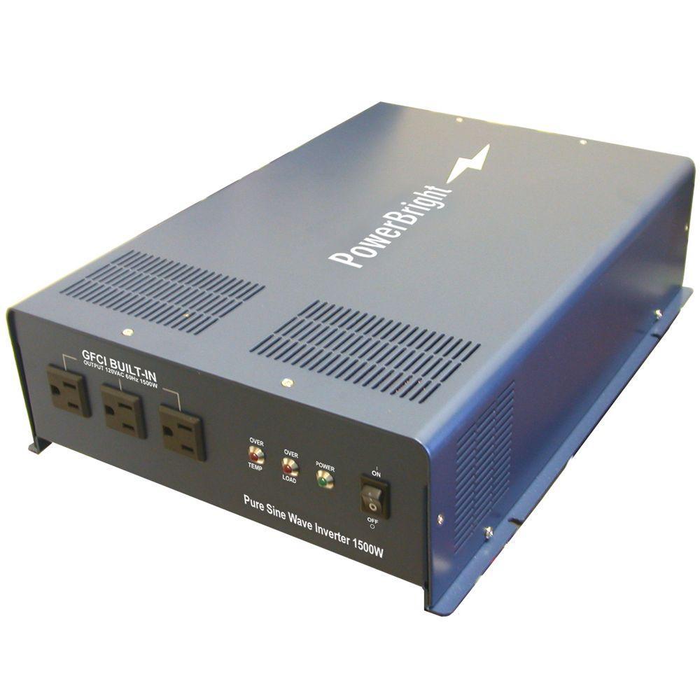 12-Volt DC to AC 1500-Pure Sine Inverter