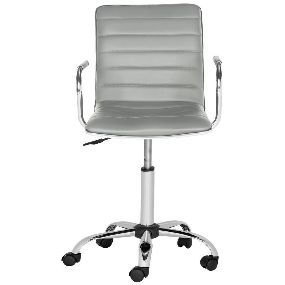 Safavieh Jonika Black Leather Office ChairFOX7520B The Home Depot