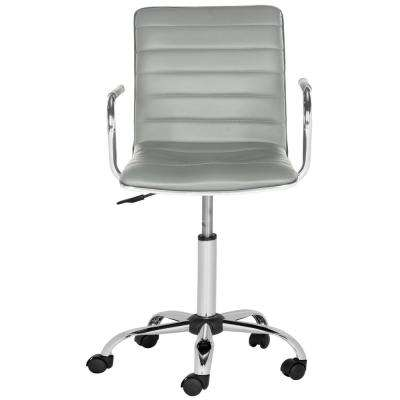 Jonika Grey Leather Office Chair
