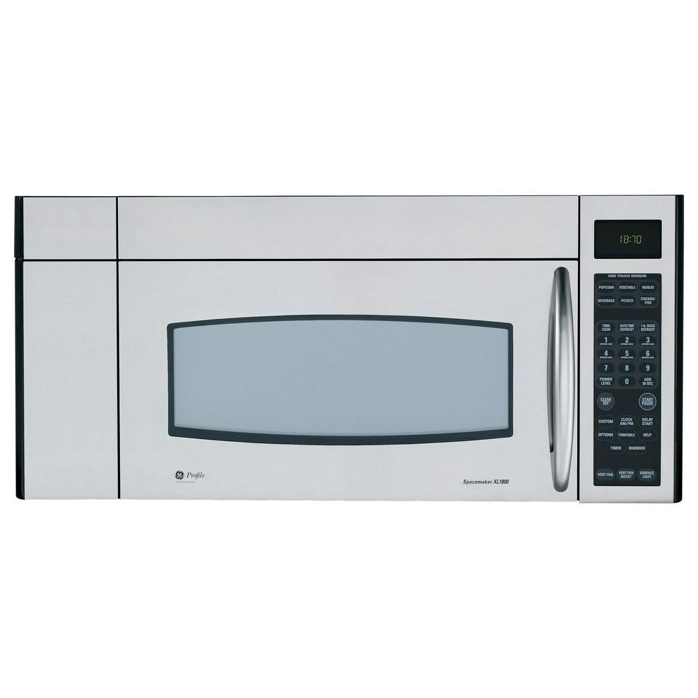 GE Profile Spacemaker XL 1800 1.8 cu. ft. Over the Range Microwave in Stainless Steel