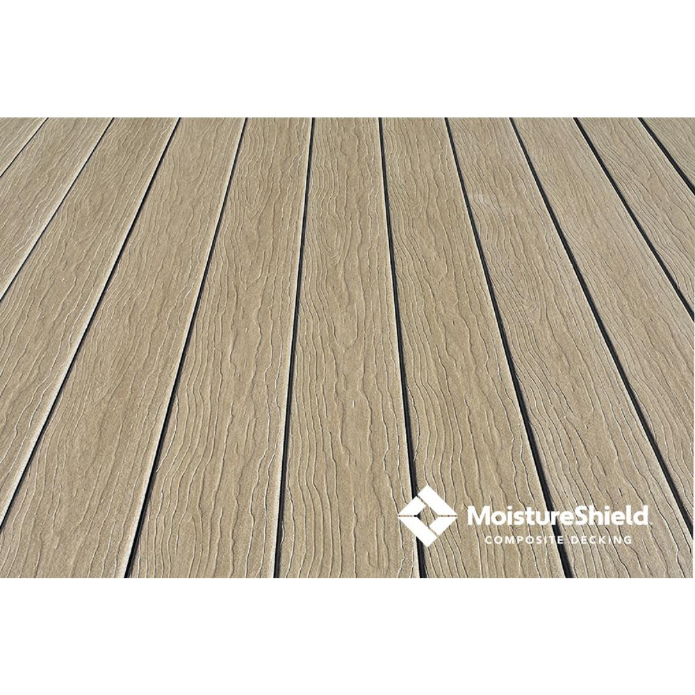 MoistureShield Vision 1 in. x 5.4 in. x 16 ft. CoolDeck Mochaccino Composite Groove Decking Board (10-pack)
