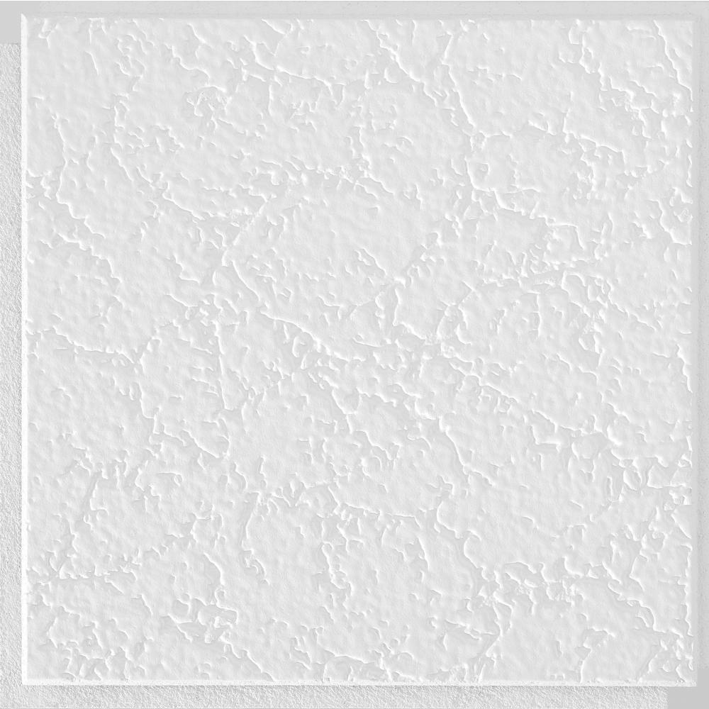 Armstrong CEILINGS Grenoble 1 ft. x 1 ft. Clip Up or Glue Up Fiberboard Ceiling Tile in White (40 sq. ft./case)