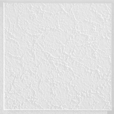 Grenoble 1 ft. x 1 ft. Clip Up or Glue Up Fiberboard Ceiling Tile in White (40 sq. ft./case)