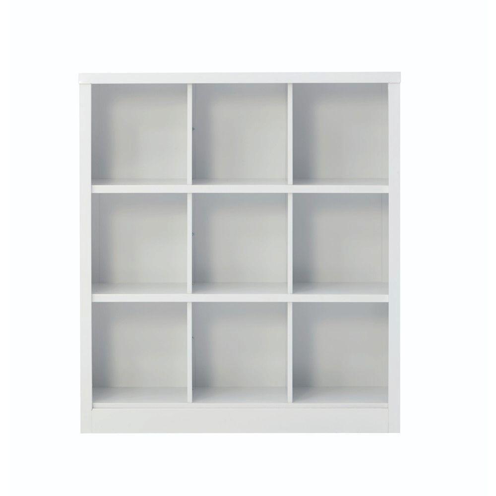 Lachlan 40.5 in. x 46 in. White 9-Cube Storage Organizer
