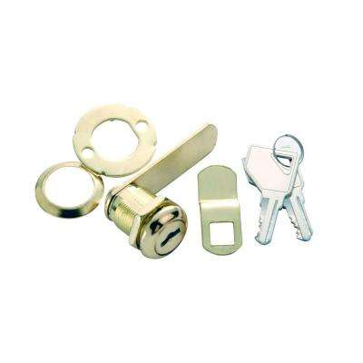 7/8 in. Polished Brass Cabinet and Drawer Utility Cam Lock