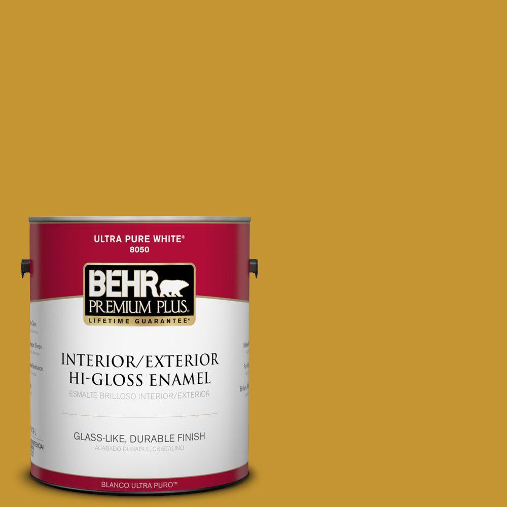 BEHR Premium Plus 1-gal. #S-H-360 Leisure Hi-Gloss Enamel Interior/Exterior Paint