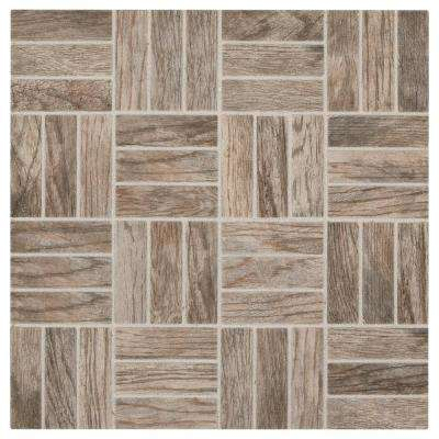 Montagna Rustic Bay 12 in. x 12 in. x 6.35 mm Ceramic Lattice Mosaic Tile