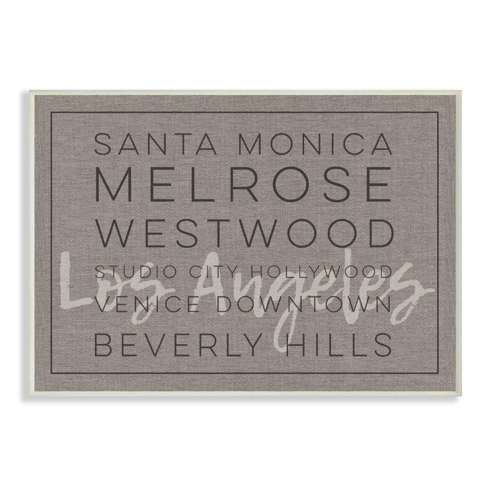 LA Santa Monica Beverly Hills Typography  sc 1 st  Home Depot & Stupell Industries 10 in. x 15 in.