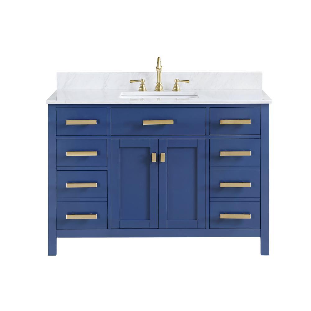 Blue 48 Inch Vanities Bathroom Vanities With Tops Bathroom Vanities The Home Depot