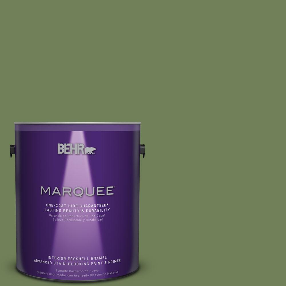 BEHR MARQUEE 1 gal. #MQ6-47 Terrain One-Coat Hide Eggshell Enamel Interior Paint