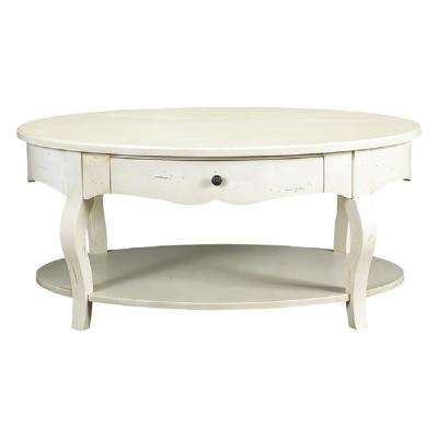 D'orsay Parisian White Oval Coffee Table