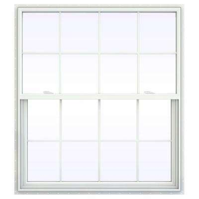 47.5 in. x 47.5 in. V-2500 Series Single Hung Vinyl Window with Grids - White