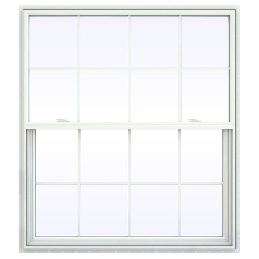 47.5 in. x 59.5 in. V-2500 Series Single Hung Vinyl Window