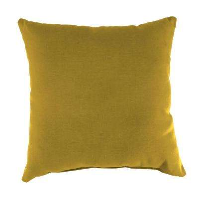 Sunbrella Canvas Maize Square Outdoor Throw Pillow