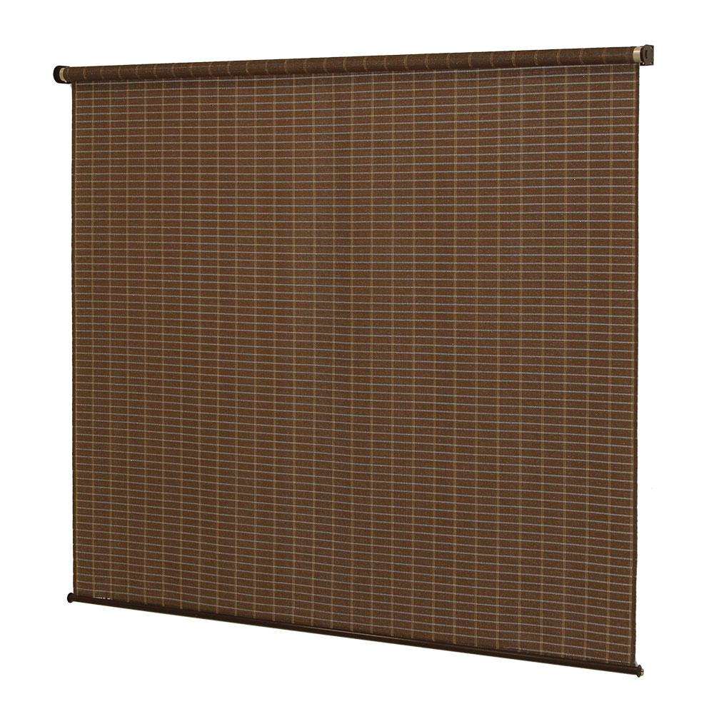 Coolaroo Alderwood Exterior Roller Shade 48 In W X 72 In L 454180 The Home Depot