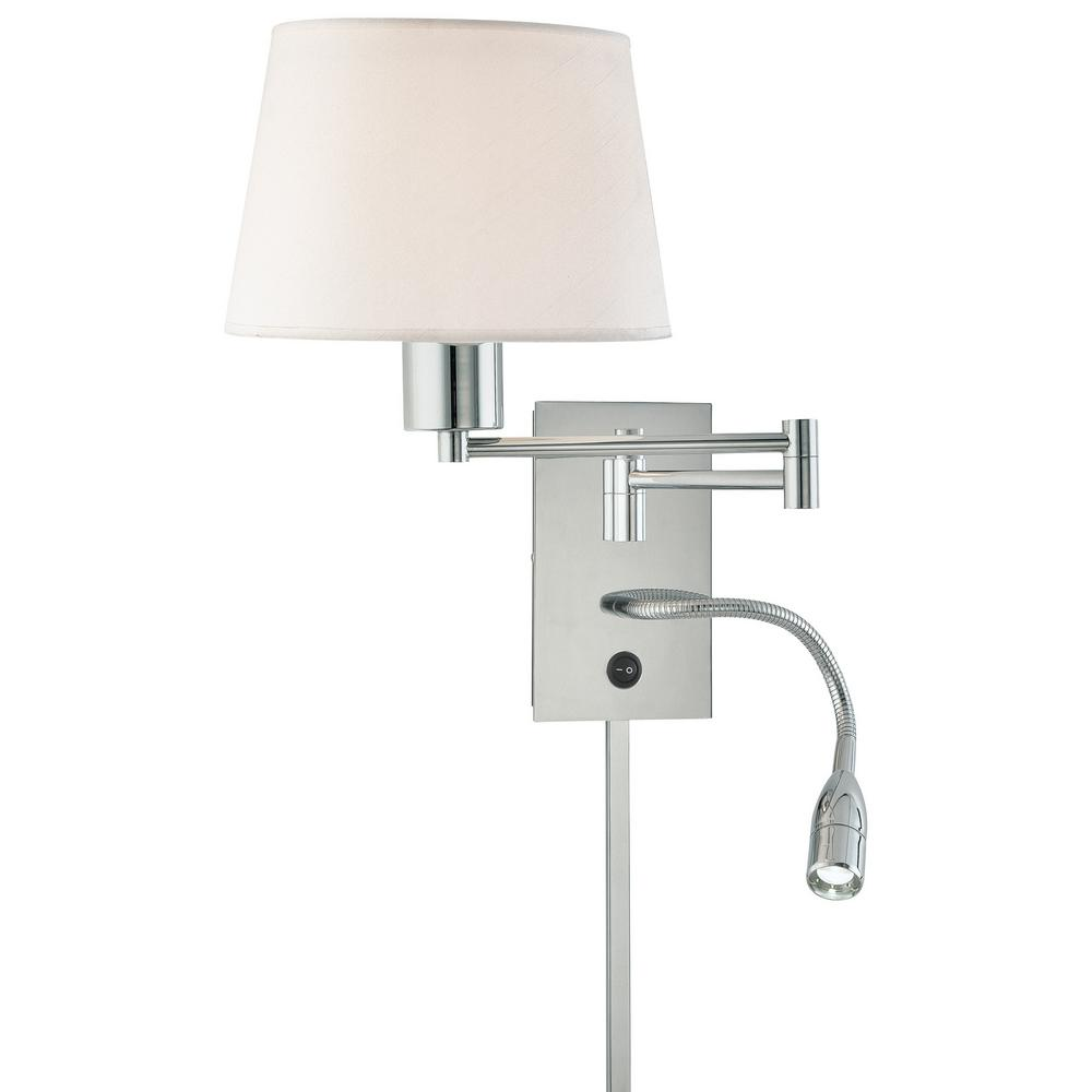 George's Reading Room 1-Light Chrome Wall Sconce