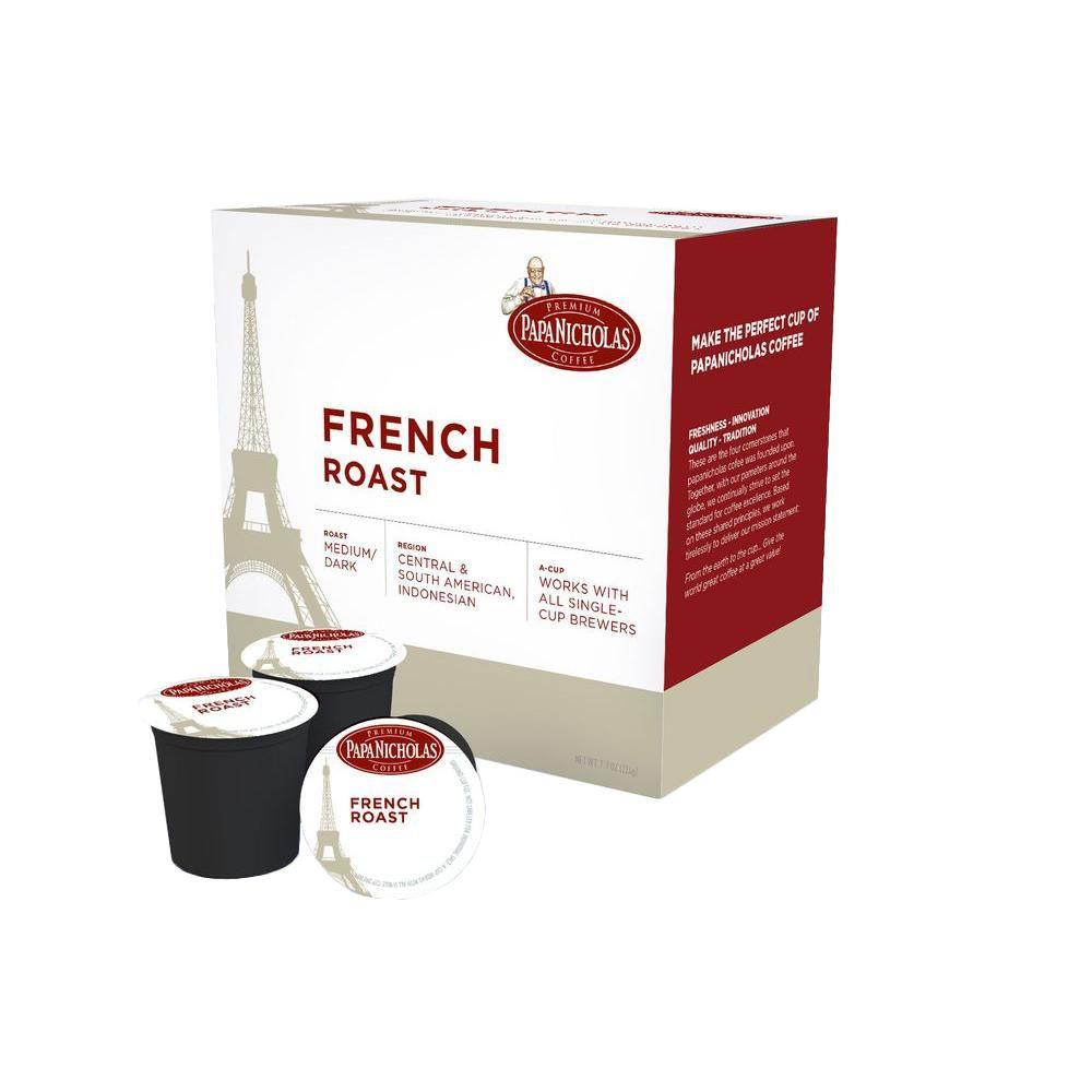 PapaNicholas French Roast Coffee (72-Cups per Case)
