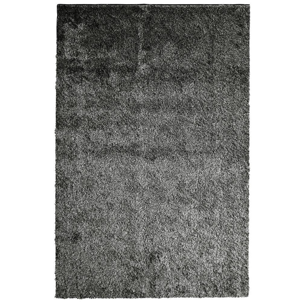 Lanart Silk Reflections Salt and Pepper 8 ft. x 10 ft. Area Rug