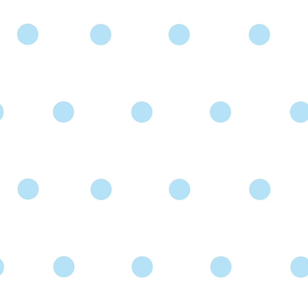 Chesapeake Kenley Aqua (Blue) Polka Dots Wallpaper