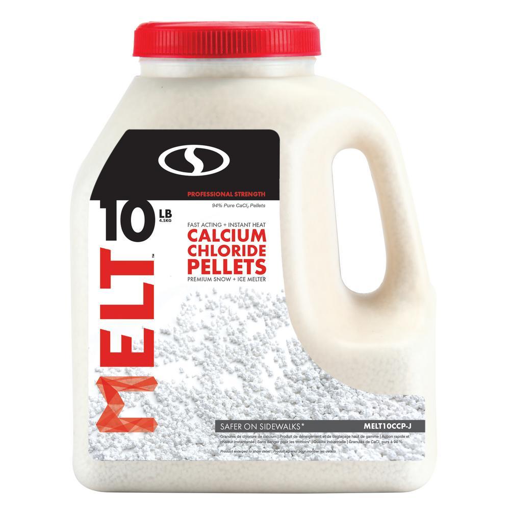 Melt 10 lb. Calcium Chloride Pellets Ice Melter Jug