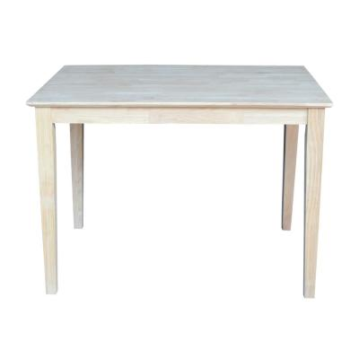 Unfinished Shaker Dining Table