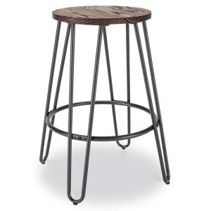 Peachy Poly And Bark Kasey Walnut And Charcoal Grey Counter Stool Gmtry Best Dining Table And Chair Ideas Images Gmtryco