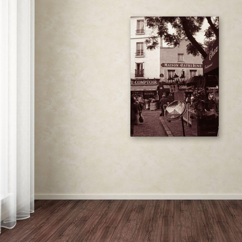 32 in. x 22 in. Maison Catherine, Montmartre Canvas Art