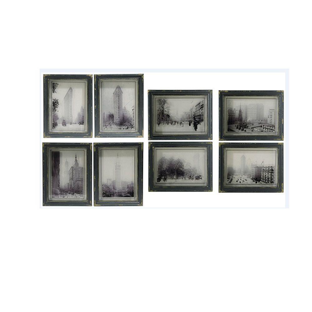 Home Decorators Collection Distressed Black City Scenes Wall Art (Set Of 8)